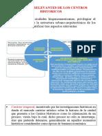 ASPECTOS RELEVANTES DE LOS CENTROS HISTORICOS