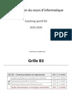 Organisation cours en ligne CS_B3 2019-20