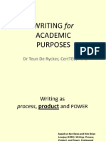 Writing for Acadmic Purposes