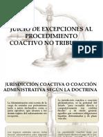 JUICIO DE EXCEPCIONES AL PROCEDIMIENTO COACTIVO NO TRIBUTARIO