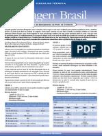 Circular Técnica Aviagen - Teste de adensamento do prato de comando - Fevereiro 2007