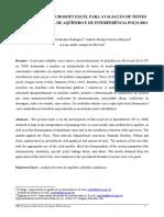UTILIZAÇÃO DO MICROSOFT EXCEL PARA AVALIAÇÃO DE TESTES DE BOMBEAMENTO