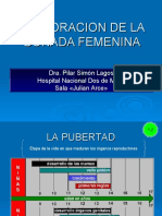 EXPLORACION DE LA GONADA FEMENINA OCT 2018