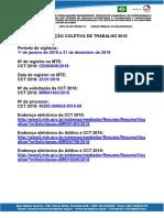 SINDIGEL CONVENÇÃO COLETIVA DE TRABALHO 2018 H. Extras