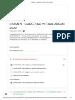 EXAMEN - CONGRESO VIRTUAL ARSON 2020