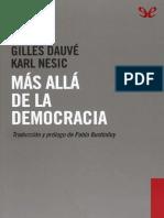 Dauve y Nesic - Mas Alla de La Democracia