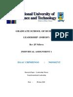 Leadership Assignment 1 - Transformational Leadership Theory.pdf