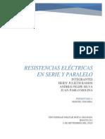 INFORME RESISTENCIAS EN SERIE Y PARALELO