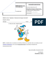Ficha de reposição de horas nº 7 e 8