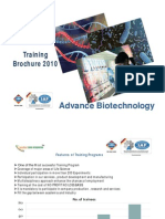 advance training in biotechnology