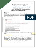 STRATEGIC MANAGEMENT ASSIGNMENT II