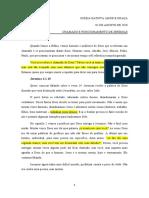 CHAMADO E POSICIONAMENTO DE JEREMIAS