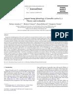 Modelling post-emergent hemp phenology (Cannabis sativa L.)- Theory and evaluation