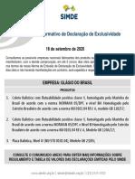 IDE 005/20  – Informativo de Declaração de Exclusividade GLAGIO  16/09/2020S