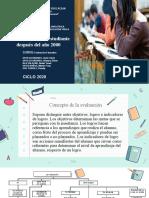 Tarea-expocion de la monografia - evaluacion al estudiante despues del año 2000