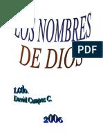 PORTADA E INDICE LOS NOMBRES DE DIOS