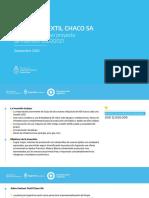 Ficha Tecnica del Proyecto de Ampliación de Santana Textiles en Puerto Tirol