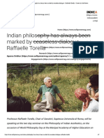 Indian philosophy has always been marked by ceaseless dialogue - Raffaelle Torella - Center for Soft Power