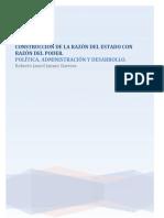 CONSTRUCCIÓN DE LA RAZÓN DEL ESTADO CON RAZÓN DEL PODER