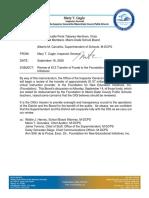 Inspector General Memo to Miami-Dade School Board