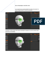 Facial Retopology - Step By Step Guide