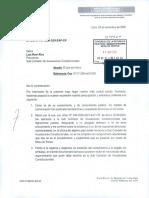 Carta de Alarcon a la Subcomisión de Acusaciones Constitucionales