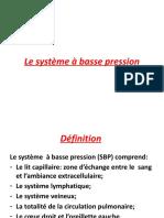 6-le système à basse pression