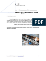 Discourse Analysis- setting and mood Ex 1