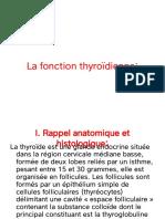 4-La fonction thyroïdienne