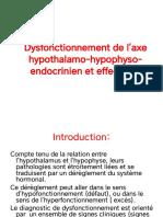 TD1-Dysfonctionnement de l'axe hypothalamo-hypophyso-endocrinien et effecteurs