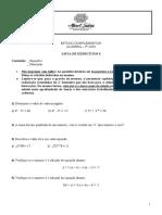9 lista 4 (equacoes e fatoracao)