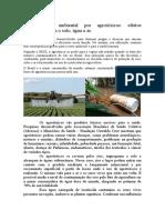 Contaminação ambiental por agrotóxicos