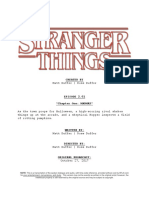 Stranger Things Episode Script 2 01 Chapter One MADMAX