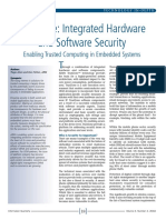TrustZone integrated hardware and software security