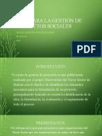GESTION DE PROYECTOS SOCIALES