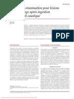 Anesthésie-Réanimation pour lésions de loesophage après ingestion dun produit caustique