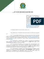 LEI Nº 14.030, DE 28 DE JULHO DE 2020[10722]
