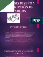 ANÁLISIS DISEÑO Y DESCRIPCIÓN DE CARGOS