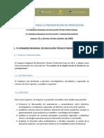 INTRUCTIVO PARA LA PRESENTACIÓN DE PROPUESTAS 2020