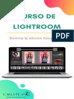 Curso Lightroom Online - Carla Ficano Fotografía