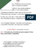 laudes (quarta de cinzas) 26 02 2020