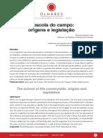 A Escola do Campo_Origens e legislacao - NETO e SILVA