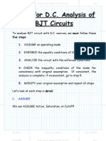 Steps for DC Analysis of BJT Circuits