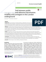 No. Analysing the link between public transport