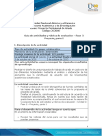 Guía de actividades y rúbrica de evaluación - Unidad 2 - Fase 2 - Proyecto, parte I