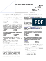 3.- EXAM Biologia -3CAS