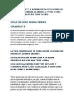 TEXTO Y REPRESENTACION GRAFICA SOBRE EL HOMBRE LLAMADO A VIVIR COMO HIJO DE DIOS GRADO 9-B