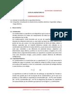 Laboratorio _Virtual N° 03. Condensador Eléctrico. Electricidad y Magnetismo. Ciclo 2020 - I