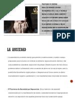 exposicion psipatologia trastorno de  ansiedad