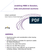 06 urban landmark -spectrum enabling mbb in sweden, current bands and planned auctions